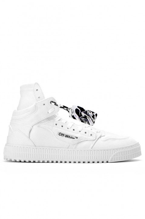 OFF-WHITE 3.0 Off Court All White Canvas Sneakers 0