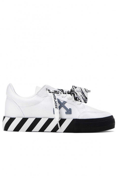OFF-WHITE Low Vulcanized White Canvas Sneakers 0