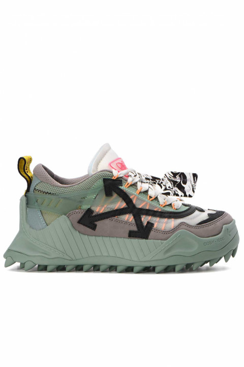 OFF-WHITE Green Black Odsy-1000 Sneakers 0