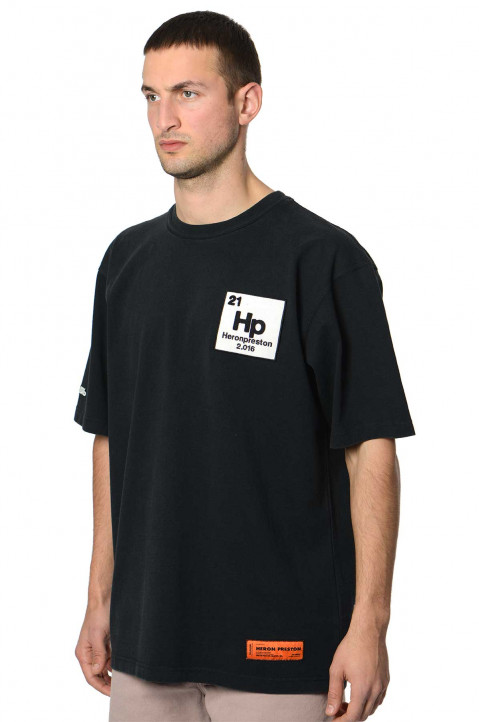 HERON PRESTON Halo Herons Black Tee 0
