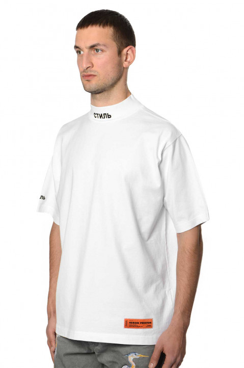 HERON PRESTON Mock CTNMB White Tee 0