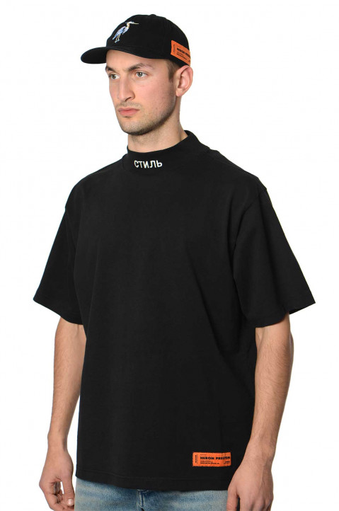 HERON PRESTON Mock CTNMB Black Tee 0