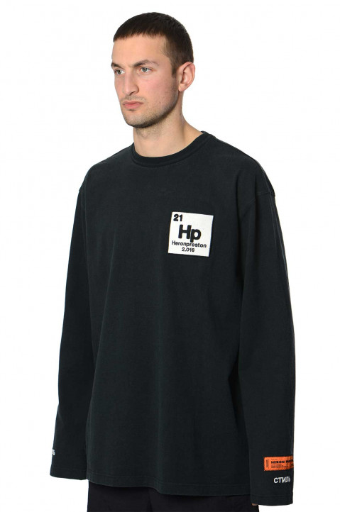 HERON PRESTON Halo Herons Black LS Tee 0