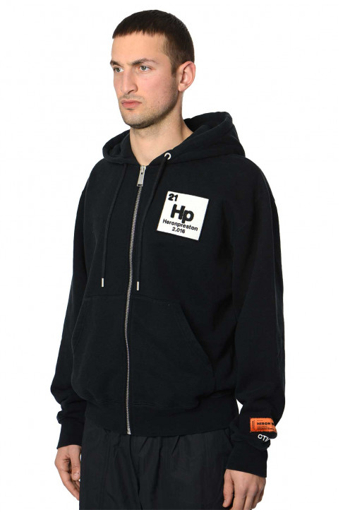 HERON PRESTON Halo Herons Black Zip Hoodie  0