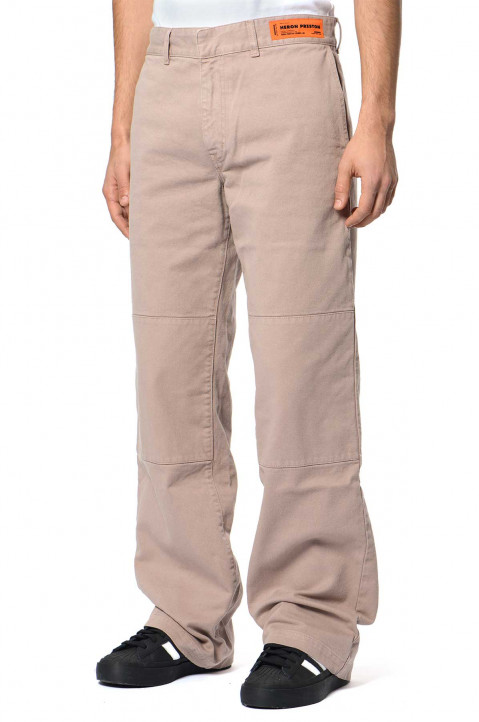 HERON PRESTON Taupe Chino Trousers  0