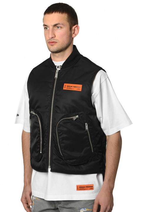 HERON PRESTON Black Nylon Vest  0