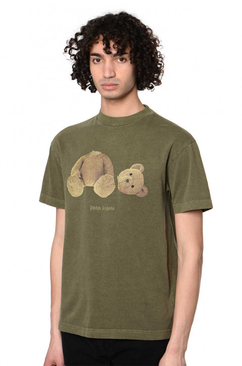 PALM ANGELS Kill The Bear Military Green Tee 0