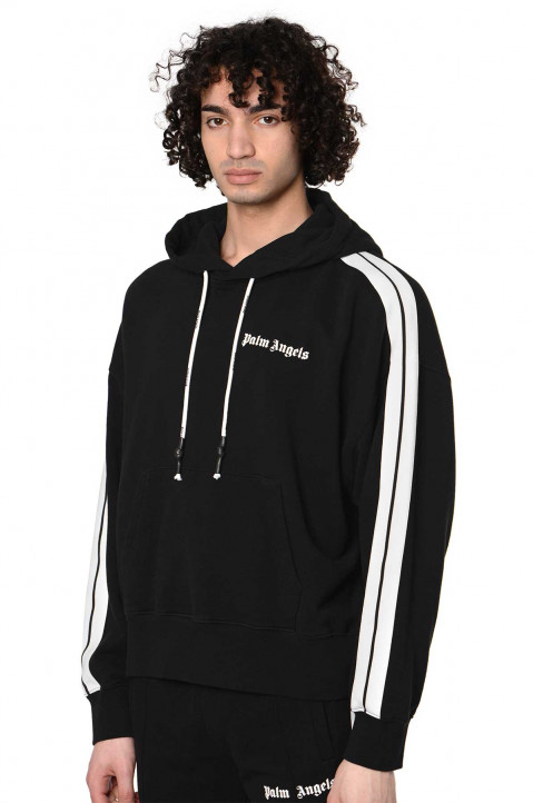 PALM ANGELS Black Classic Track Hoodie 0
