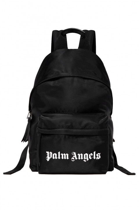 PALM ANGELS Essential Black Backpack 0
