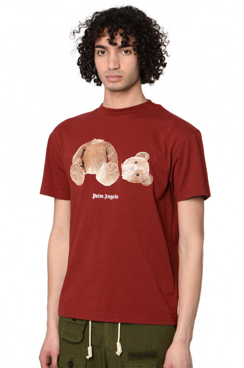 PALM ANGELS Kill The Bear Syrah Brown Tee 0