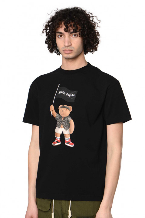 PALM ANGELS Pirate Bear Black Tee 0