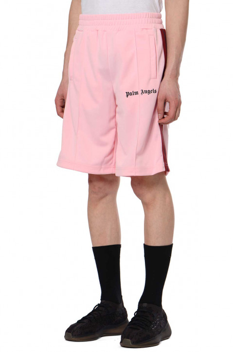 PALM ANGELS Pink Track Shorts 0