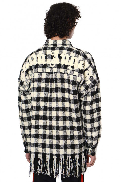 PALM ANGELS Classic Logo Checkered Overshirt  0