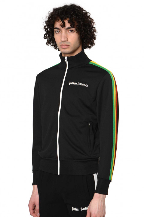 PALM ANGELS Exodus Black Track Jacket 0