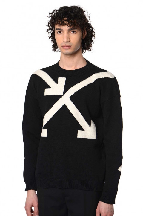 OFF-WHITE Twisted Arrows Knit Sweater 0
