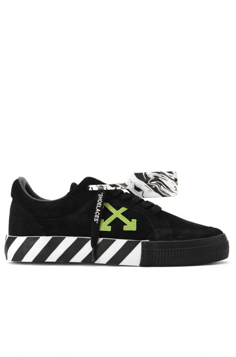 OFF-WHITE Vulcanized Black Suede Sneakers 0