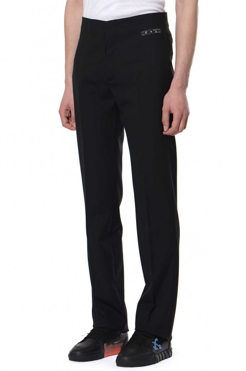 OFF-WHITE Clean Black Trousers 0