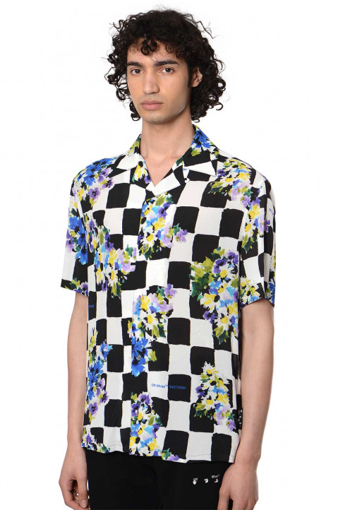 OFF-WHITE Check Flowers Shirt 0