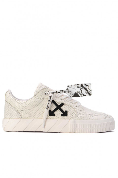 OFF-WHITE Vulcanized White Leather Sneakers 0