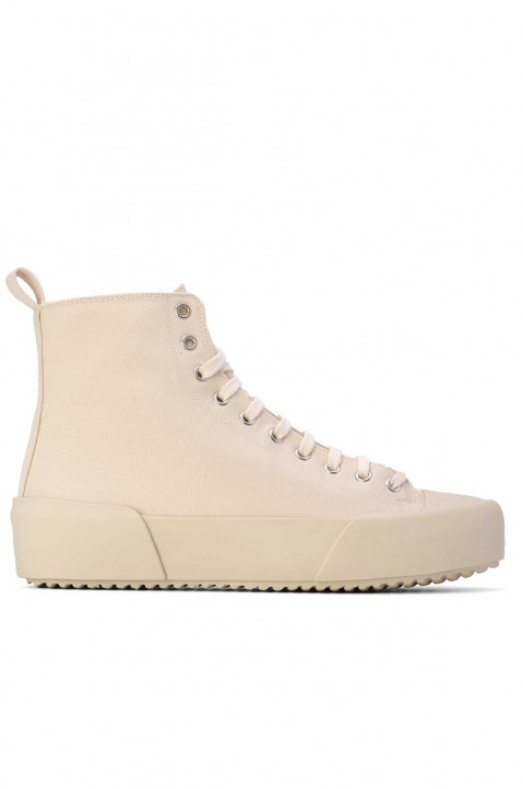 JIL SANDER Natural Hi-Top Sneakers  0