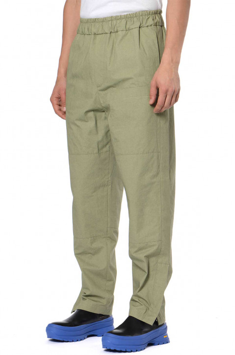 JIL SANDER Patches Pockets Green Trousers 0