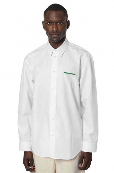 JIL SANDER Green Pin Oversized White Shirt  0