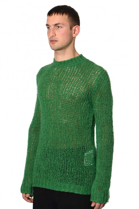 JIL SANDER Loose Knit Green Sweater 0