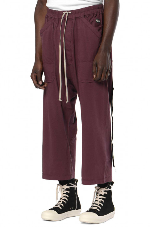 DRKSHDW Plum Cargo Cropped Trousers  0