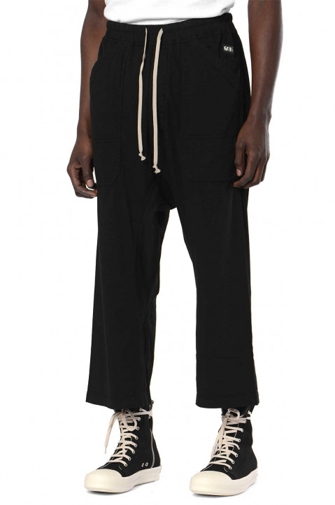 DRKSHDW Black Cargo Cropped Trousers  0