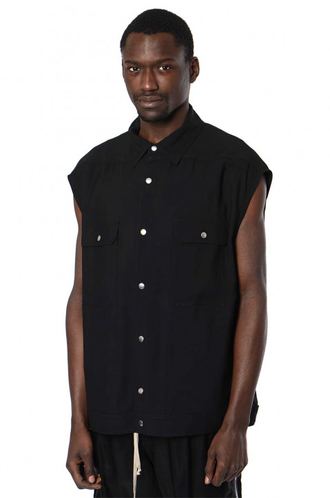 RICK OWENS Phlegethon Sleeveless Jumbo Outershirt  0