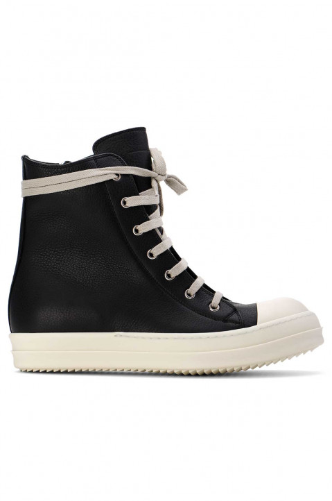 RICK OWENS Phlegethon Hi Top Leather Sneakers  0