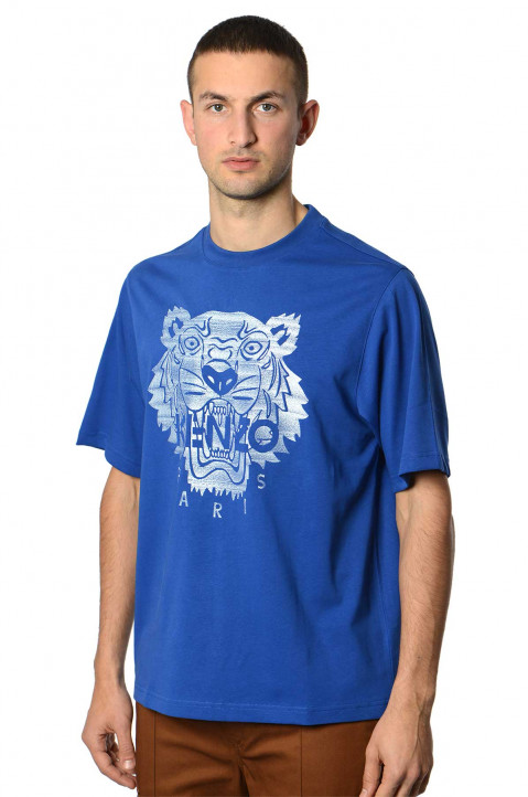 KENZO Oversized Royal Blue Tiger Tee 0