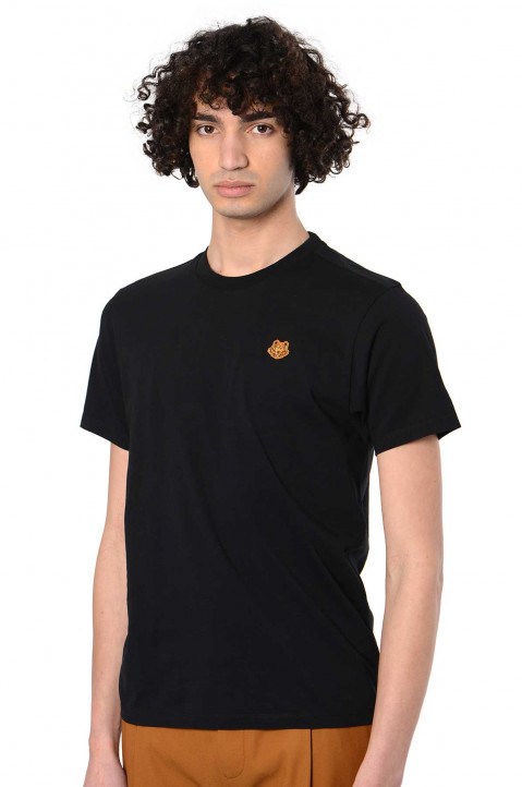 KENZO Small Tiger Patch Black Tee 0