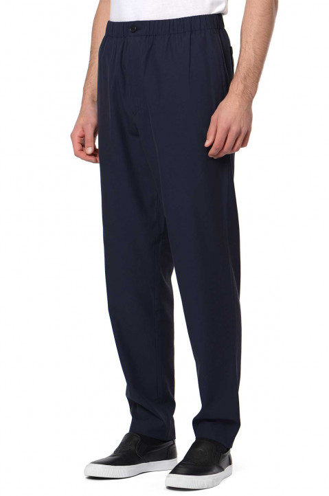 KENZO Triacetate Relaxed Navy Trousers 0