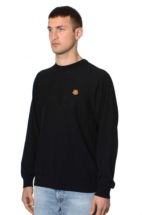 KENZO Tiger Crest Black Sweater  0