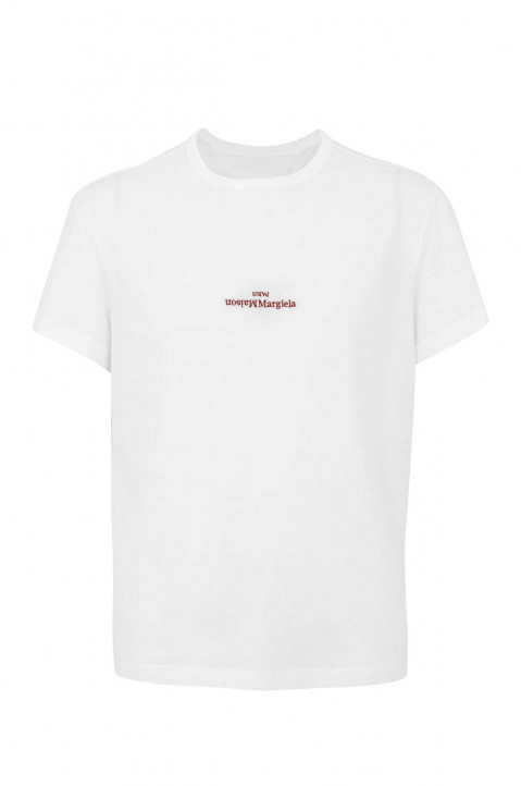 MAISON MARGIELA Inverted Logo White Tee 0