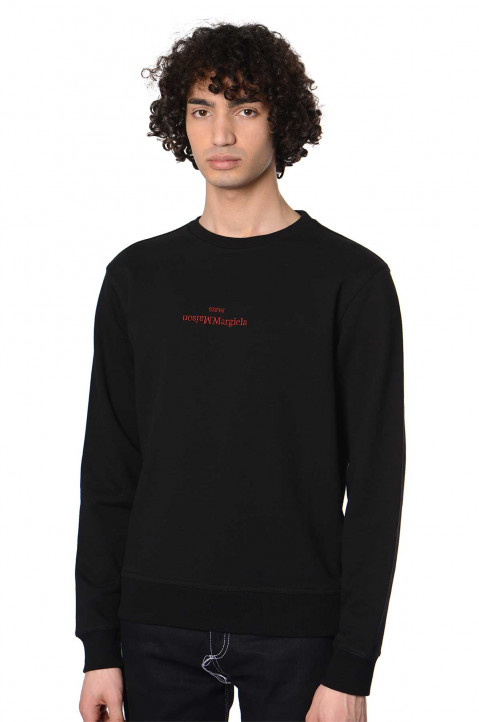 MAISON MARGIELA Inverted Logo Black Sweatshirt 0