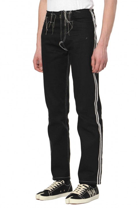 MAISON MARGIELA Raw 5- Pockets Black Jeans 0
