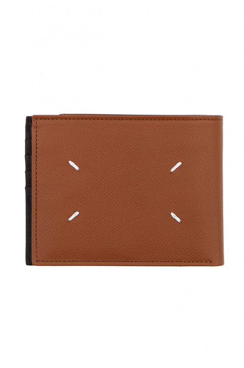 MAISON MARGIELA Brown Calfskin Wallet w/ Outer Coin Pouch 0
