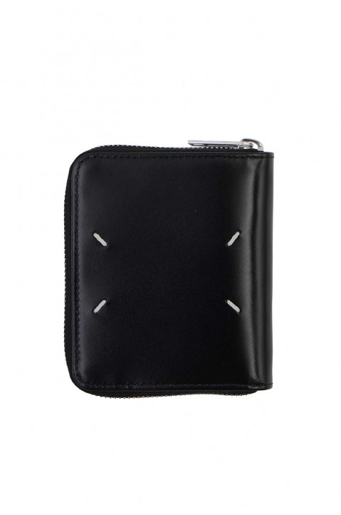 MAISON MARGIELA Zip-Around Black Leather Wallet 0
