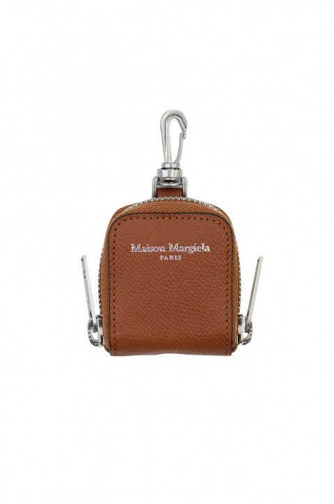 MAISON MARGIELA Brown Leather Earpods Case 0