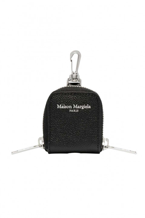 MAISON MARGIELA Black Leather Earpods Case 0