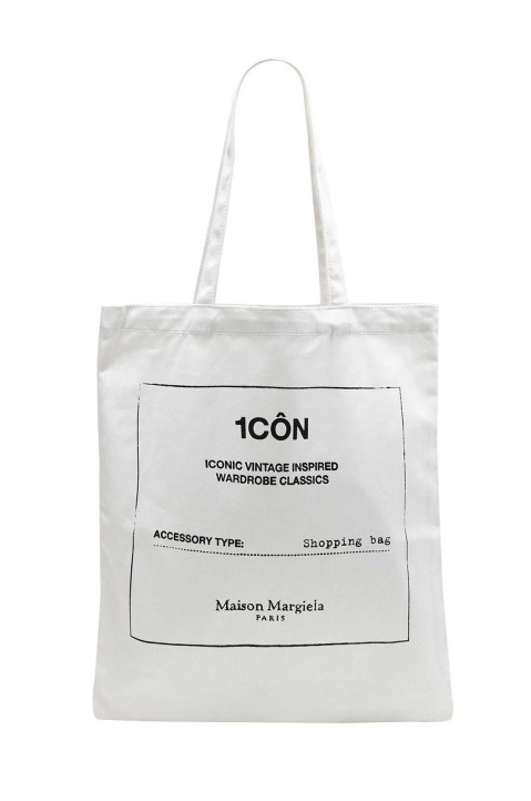 MAISON MARGIELA 1CÔN White Tote Bag 0