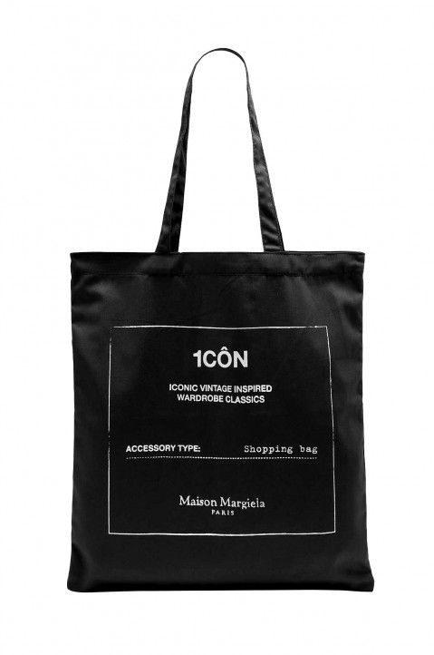 MAISON MARGIELA 1CÔN Black Tote Bag 0