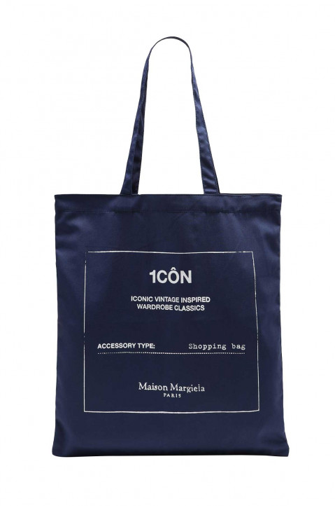 MAISON MARGIELA 1CÔN Navy Blue Tote Bag 0