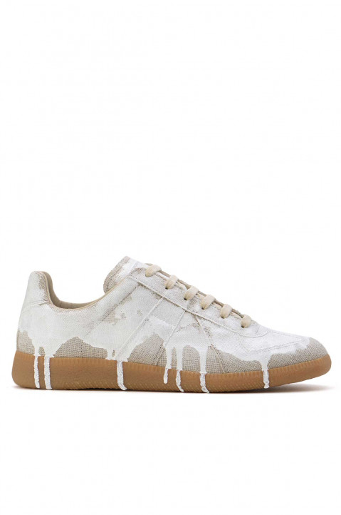 MAISON MARGIELA White Paint Sneakers 0