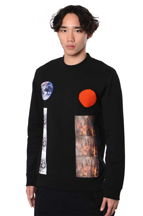 RAF SIMONS ARCHIVE REDUX Sterling Patches Black Sweatshirt 0