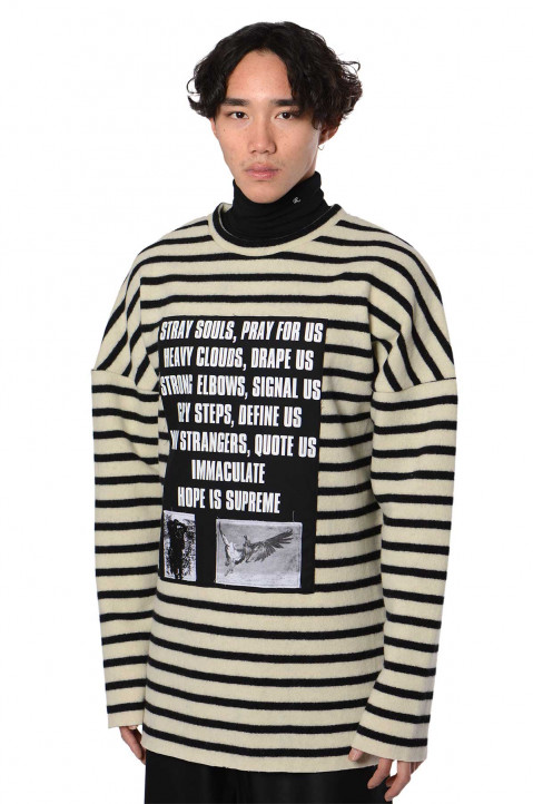 RAF SIMONS ARCHIVE REDUX Patches Striped Sweater  0