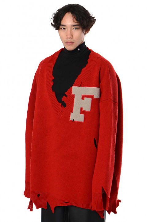 RAF SIMONS ARCHIVE REDUX Oversized Destroyed Sweater  0
