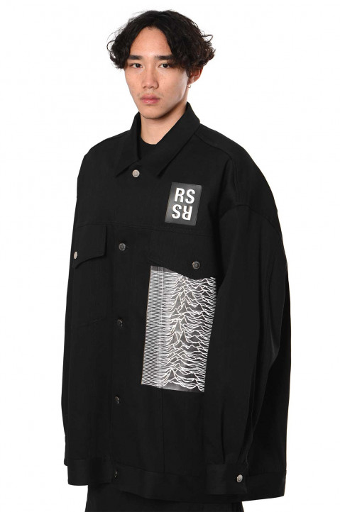 RAF SIMONS ARCHIVE REDUX Oversized RS Patch Denim Jacket  0